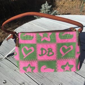 NEW Small Canvas & Leather Dooney & Bourke Pursse